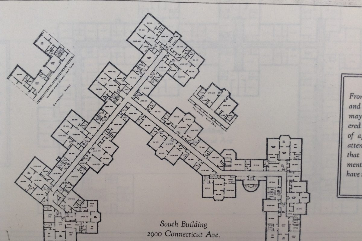 South Cathedral Mansions Apartment Blueprint