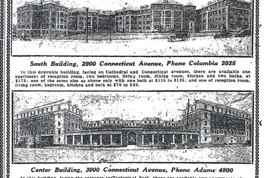 South Cathedral Mansions Historic Ad